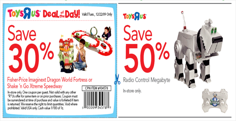 Toys R Us Coupons Deal of Day Sale