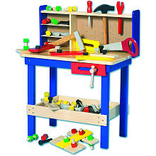 imaginarium wooden workbench
