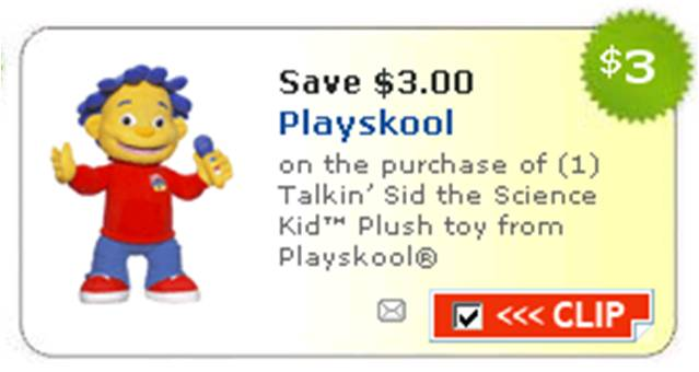 Sid the Science Kid Playskool Toy Coupons at Toys R Us